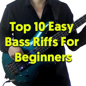 top 10 easy bass riffs for beginners talkingbass. Black Bedroom Furniture Sets. Home Design Ideas