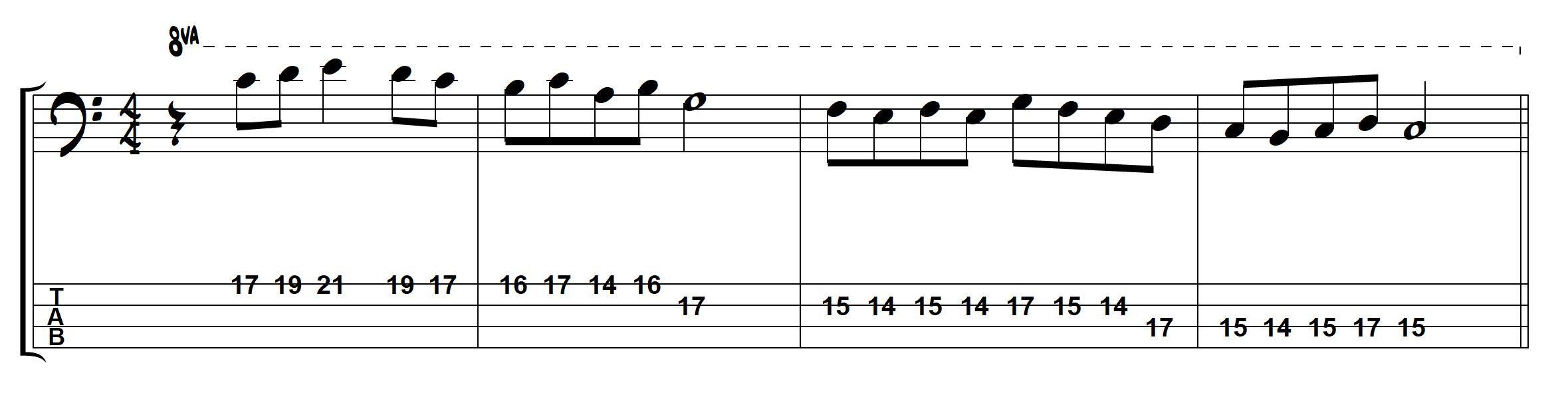 c major melody – TalkingBass